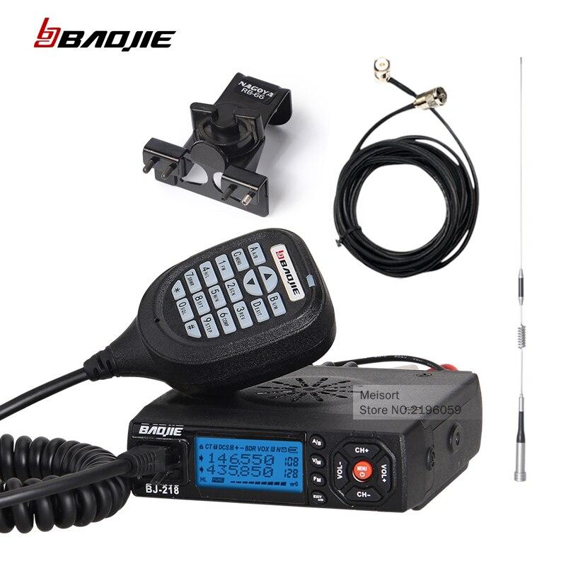 imágenes para Baojie bj-218 dual band mobile radio transceptor 20/25 w de largo alcance walkie talkie coche mini jamón cb radio de policía equipo