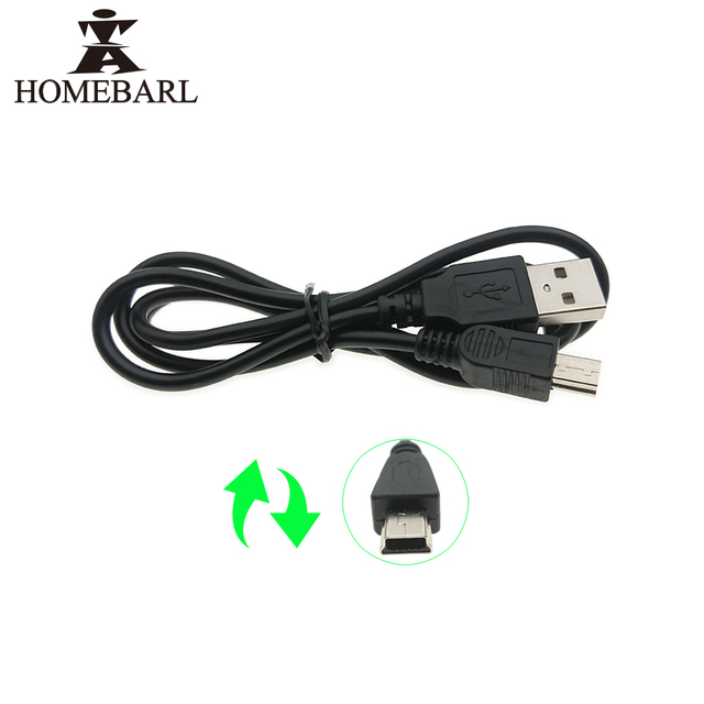 HOMEBARL Data Sync Mini USB 5 Pins Adapter Charger V3 Cable For MP3 MP4 MP5 Player Camera Radio Transfer Charging Line Cables