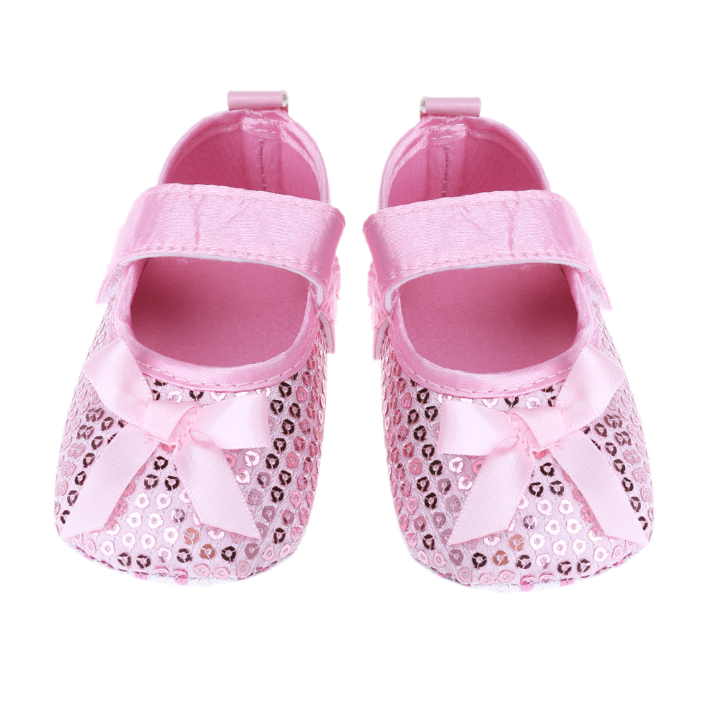 Fashion First Walker Baby Infant Sequin Infant Soft Sole Shoes Slip-on Sneakers Anti Slip Toddlers Prewalkers for 0-24M