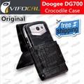 Doogee dg700 case crocodile 100% original novo titans2 mobile phone protective leather case tampa flip + frete grátis