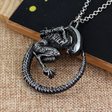 MQCHUN Film Sieraden Punk Warrior Alien Goth Horror Giger Hanger Aliens Predator AVP Ketting Fans Kerst Cosplay Gift(China)
