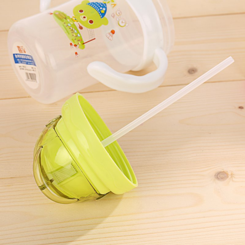 Children Learn Feeding Drinking Bottles Baby Kids Cute Drink Bottle Straw Cup Cartoon Bear Baby Drink Cup