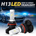 Oslamp CREE Chips H13 LED Car Headlight Kits Far + Near Car Bulbs Dipped/High Beam SUV 9008 Car Lamps Fan-less 3000K 6500K 8000K