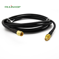 LMR195 Low-Loss Coax Extension Cable SMA Male to SMA Female - Antenna Lead Extender for 3G/4G/LTE/Ham/ADS-B 1/3/5/8/10/12/15M