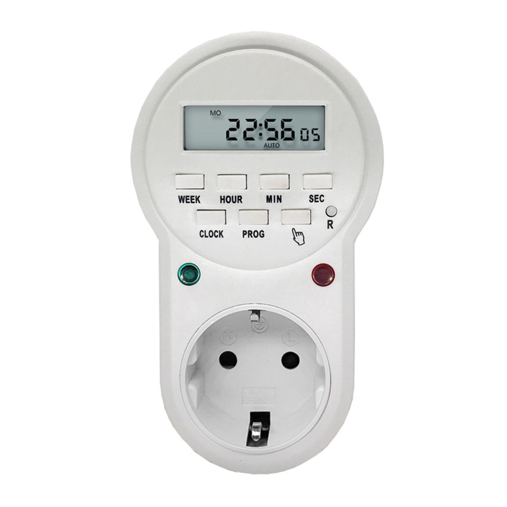 EU/US/UK Plug Electronic Timer Switch Digital Programmable Power Sockets Protector Energy Saving Electrical Sockets цена