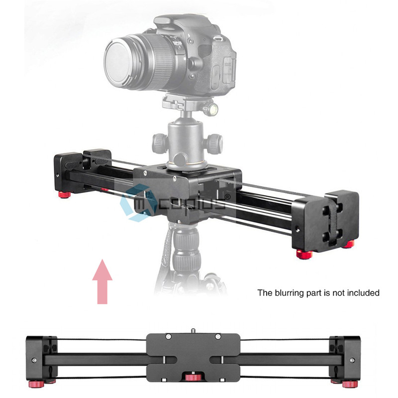 Mcoplus DSLR Camera Compact Retractable Track Dolly Slider 40cm Rail Shooting Video Stabilizer 80cm Actual Sliding Distance latour gt m80 camera dolly slider track dslr stabilizer steadicam