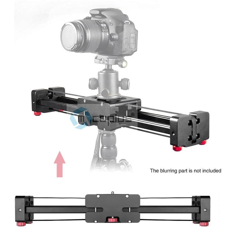 """bilder für Mcoplus tragbare 3/8 """"einstellbare videokamera slider 400mm doppel abstand für canon nikon sony dslr dv kamerawagen stabilisator"""