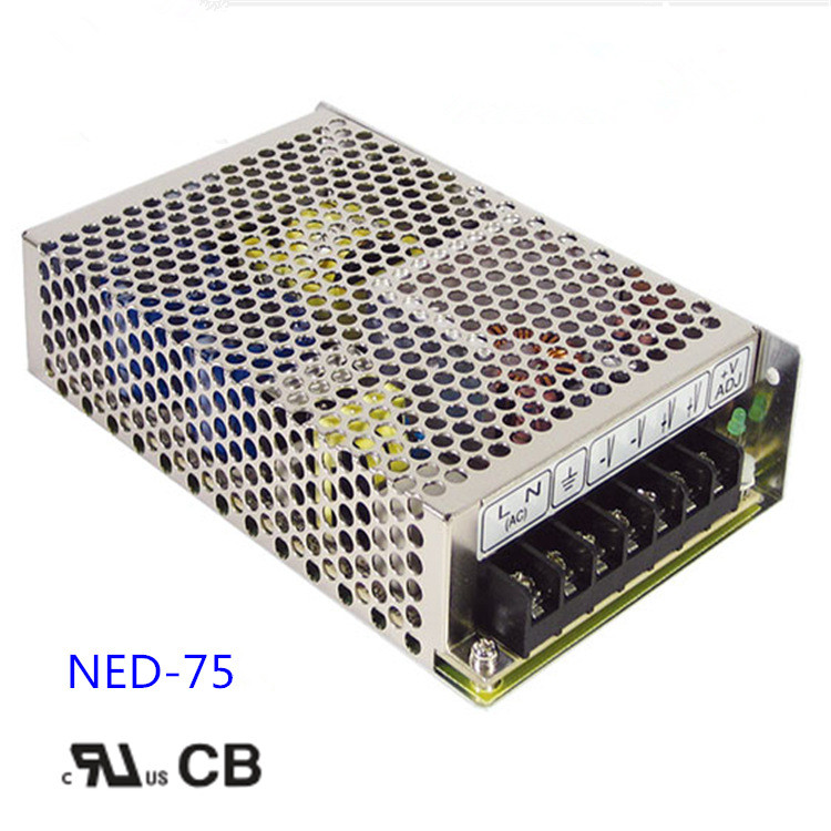 Free shipping 1pc  NED-75A 71w 5v  7A Double Group Output Switch Power meanwell double group output switch power ned 100 a 2 years warranty new original