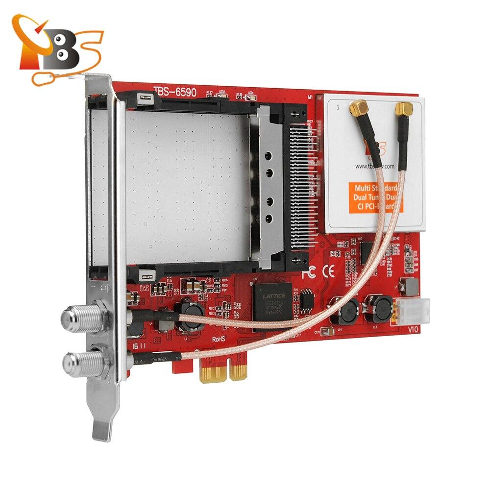 Tbs6590 multi Стандартный двойной тюнер Двойной ci pci-e карты Поддержка DVB-S2/s, DVB-T2/T, dvb-c2/c, dvb-s2x и ISDB-T