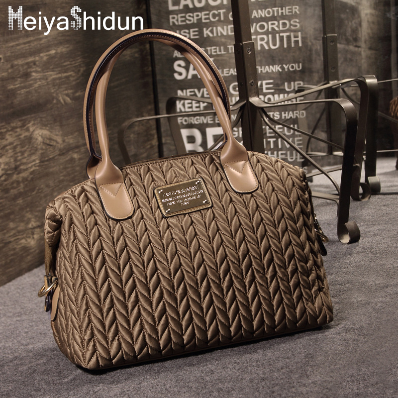 MeiyaShidun Fashion Quilted handbags women bag Luxury brand design top-handle ba