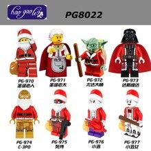 100PCS PG970 Marvel Super Heroes Christmas Granny Santa Claus Yoda Darth Vader Deadpool Joker Building Blocks Toys pg8022