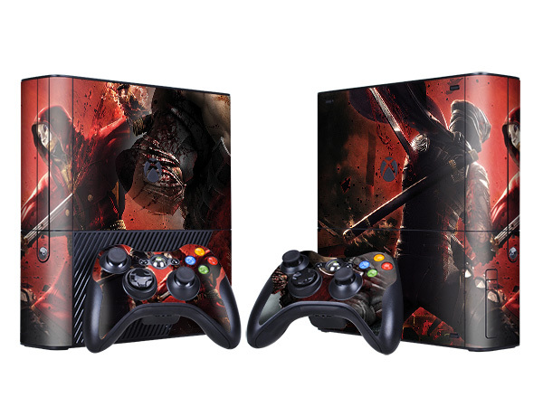 Ninja Gaiden Game Front Back Decal Skin Sticker For Xbox 360 E