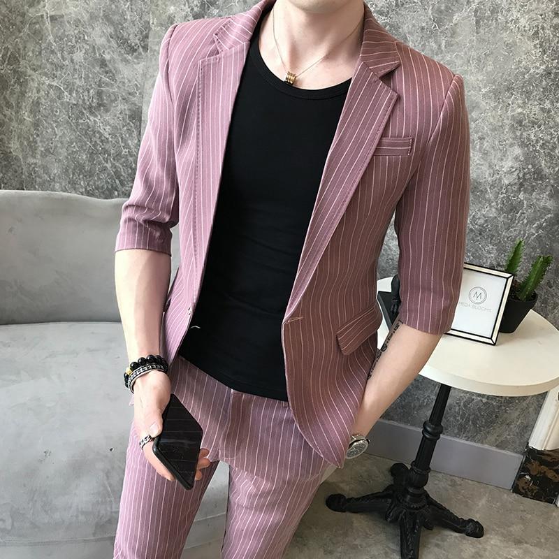 Marée tops Beau Petit Costume Loisirs De Unique Hôte Nouveau Hommes Pantalon Personnalité Coréen Jeunes RIxr8RP