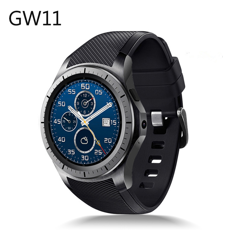 New GW11 Bluetooth SmartWatch Support 3G Sim Card WiFi GPS Heart Rate Fitness Tracker MTK6580 Android 5.1 Quad Core Smart Watch fashion s1 smart watch phone fitness sports heart rate monitor support android 5 1 sim card wifi bluetooth gps camera smartwatch
