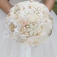 DIY Ngà brooch Cây bó hoa Cô Dâu Bridal Wedding Bouquet Bridesmaid Sáng Tạo hoa Khô Tùy Chỉnh bó hoa