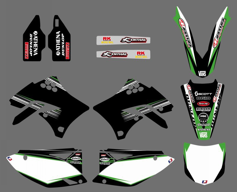 0062 New Style TEAM GRAPHICS BACKGROUNDS DECALS STICKERS Kits for KX450F KXF450 2009 2010 2011 2012