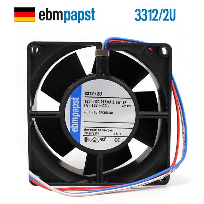 NEW ebmpapst PAPST 3312/2U 9232 12V 2.6W IP68 waterproof DC cooling fanNEW ebmpapst PAPST 3312/2U 9232 12V 2.6W IP68 waterproof DC cooling fan
