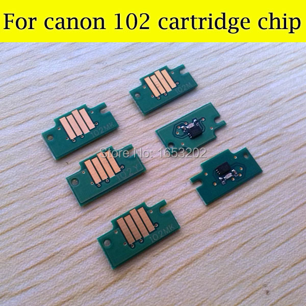 The Cheapest Cartridge Chip For Canon ipf500/ipf510 ipf600 ipf605 ipf700/ipf720 ipf610 ipf710  pfi 102 ink cartridge