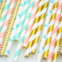 25pcs Paper Drinking Straws paper napkins Party  Paper Straws happy birthday party decoraiton birthday party decorations kids