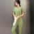 Elegantes Trajes de Pantalón para Las Señoras Nuevo 2016 Moda Plaid Pantalones Trajes de Manga Corta de Verano Más tamaño 2 Unidades Set Mujeres