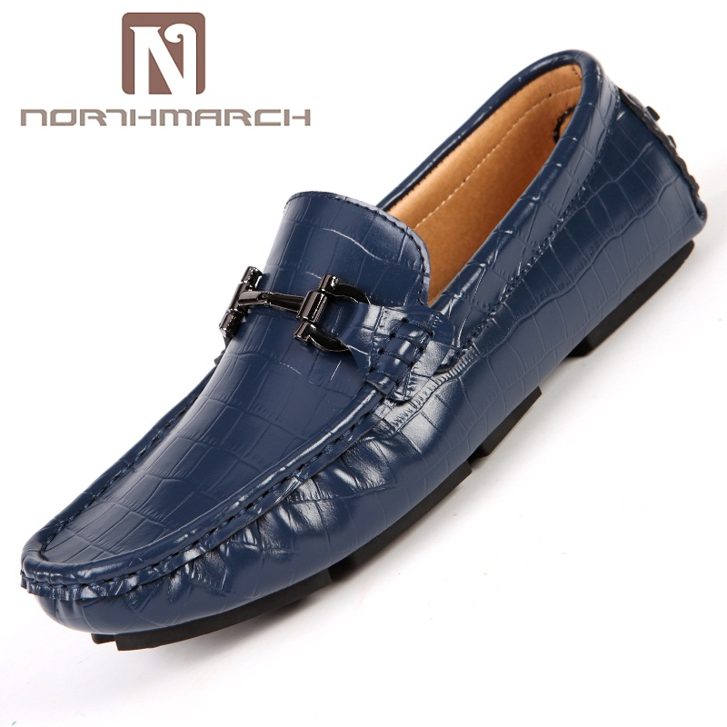 NORTHMARCH New Men Flats Soft Leather Men Shoe Breathable Driving Shoes Handmade Summer Slip On Causal Shoes For Man Zapatos bole new men handmade genuine leather shoes fashion designer slip on driving loafers breathable flats men shoes large size 36 45