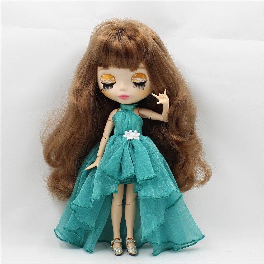 Neo Blythe Doll Chiffon Dress with Flower 1