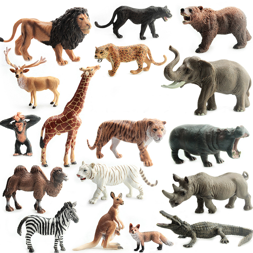 1pcs Simulated Plastic Wild Animals Zoo Safari Figure