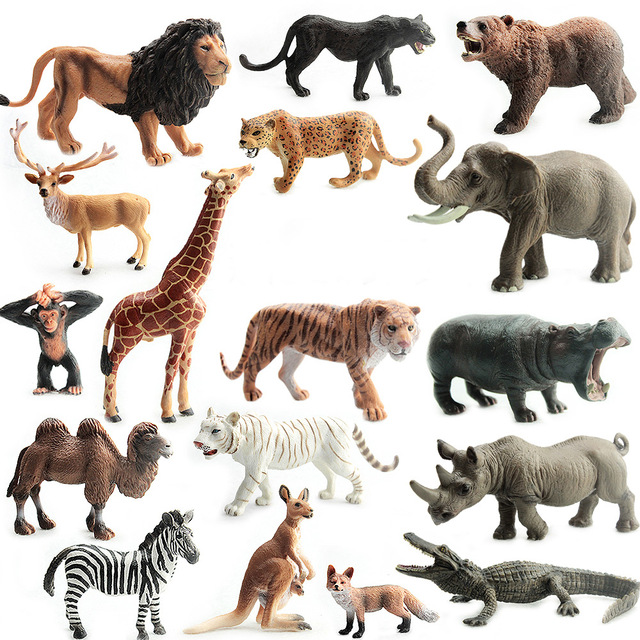 animals wild animal zoo collection safari plastic figure zebra lion figures action tiger toys simulated crafts 1pcs toy dog simulation