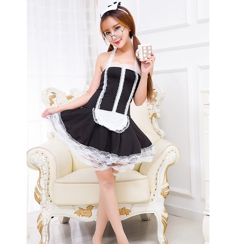 Women Sexy Nite French Maid Costume Servant Cosplay Sexy Women Dress Apparel Maid Sexy Costumes