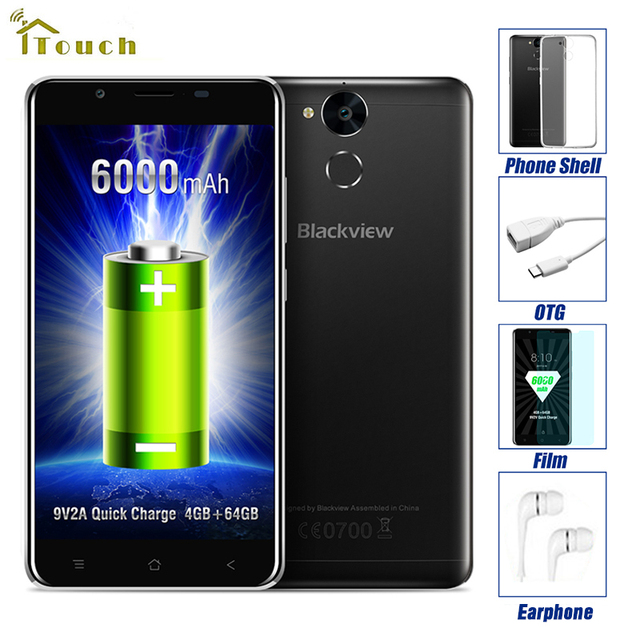 "Blackview P2 Смартфон 5.5 ""FHD 6000 мАч MTK6750T Octa Ядро 4 Г RAM 64 Г ROM Отпечатков Пальцев ID 8MP + 13MP Камера 4 Г LTE Мобильный Телефон"