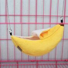 Cute Banana Shape Pet Bird Hamster Ferret Rat Squirrel Hammock Hanging Cage Nest Bed House Toys