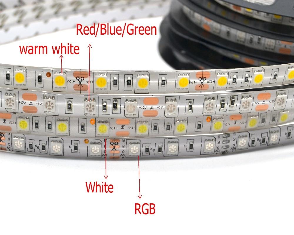 LED-csík 5050 DC 12V rugalmas LED-es LED 60 LED / m 5m / tétel RGB - LED Világítás - Fénykép 3
