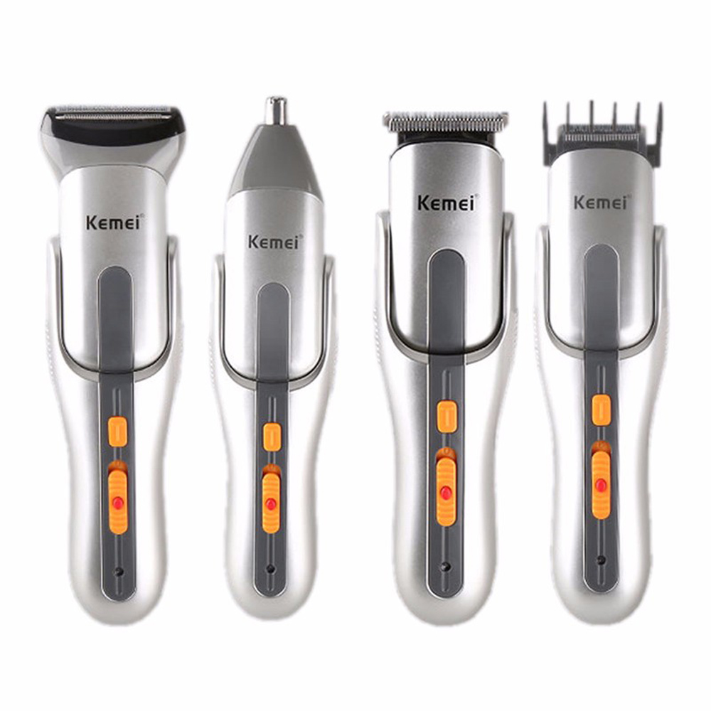 5 In 1 Multifunction Cutter Electric Hair Clipper Rechargeable Hair Nose Ear Trimmer Shaver Razor Cordless Adjustable Clipper kairui rechargeable dual blade shaver razor w trimmer ac 220v