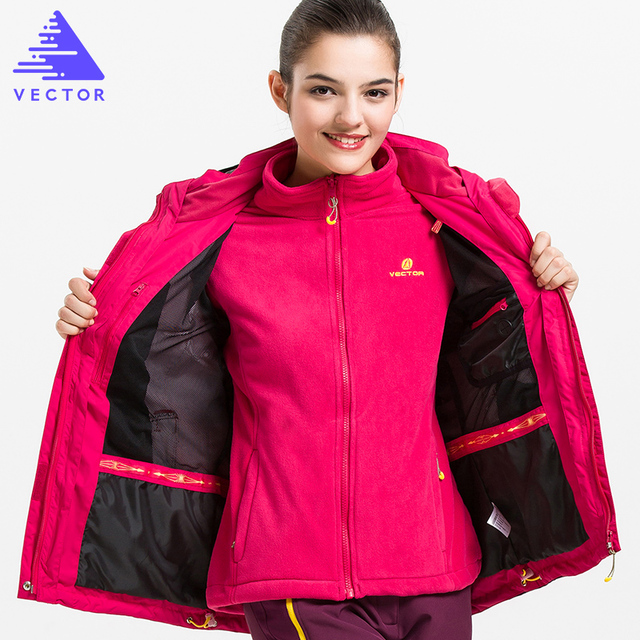 VECTOR Warm Winter Outdoor Rain Jacket Women Windproof Waterproof  Mountaineering Climbing Camping Hiking Jacketes 60020