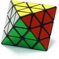LanLan Magic cube Velocidade Enigma Inteligência Preto Cara Octaedro Transformando Plástico Cérebro Teaser Magia Twisty Enigma cubo magico