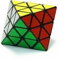 LanLan Refrentar Octaedro cubo Mágico De Plástico Velocidad Negro Puzzle de Inteligencia Rompecabezas Magic Twisty Puzzle cubo mágico