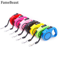 FameBeaut Nylon Pet Dog Collar Harness Leashes Retractable 3M 5M Rope Dogs Outdoor Running Pet Puppy