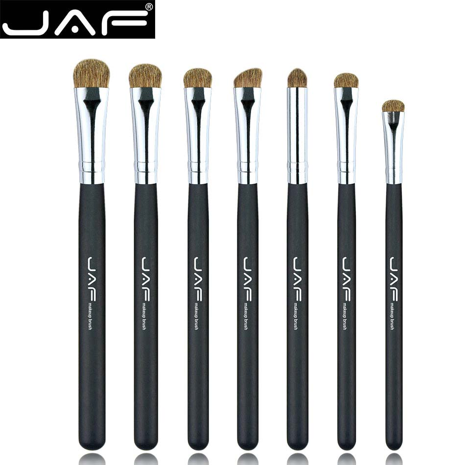 JAF Brand 7pcs Eyeshadow Brushes for Makeup Classic 100% Natural Animal Hair Eye Shadow Blending Make Up Brush Set JE07PY(China)