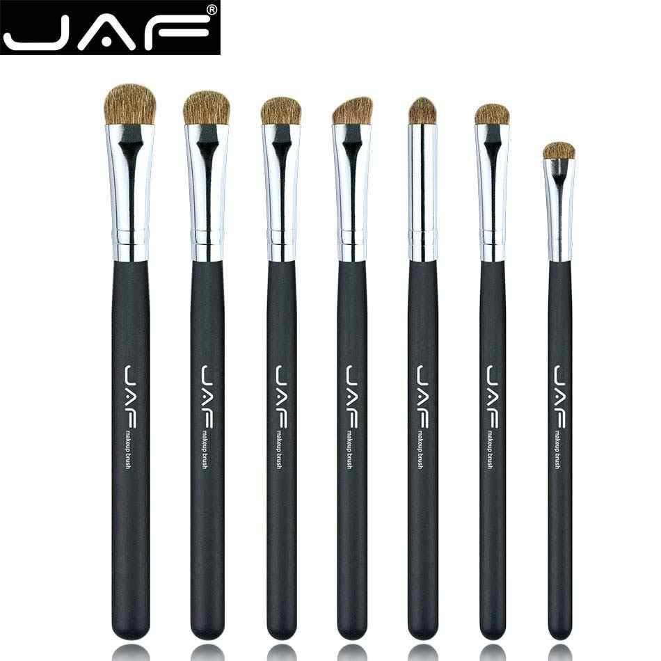 JAF 7 pcs Eyeshadow Pincéis para Maquiagem Da Marca Clássico 100% Natural Animal Cabelo Blending Sombra de Olho Compo o Jogo de Escova JE07PY