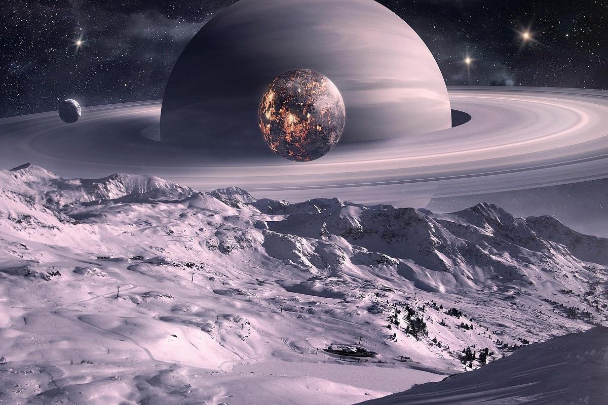 planet saturn moons - HD1920×1200