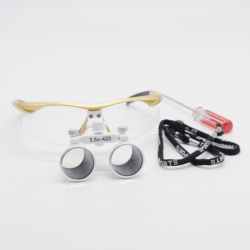 3 5X Magnification Binocular Medical Magnifier Dentistry Surgical Dental Loupes