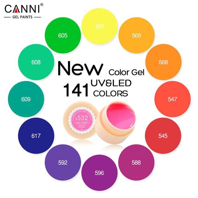#50618 Новый 2017 CANNI Nail Art Советы Дизайн Manicure141 Цвет UV LED Soak Off DIY Краска Цвет Чернил Геля УФ-Лак для Ногтей Гелем