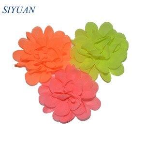 Image 4 - 300pcs/lot 20 Color U Pick 2 Inch Small Chiffon Petals Flowers Flat Back DIY Craft Wedding Decoration Wholesale Supply TH50