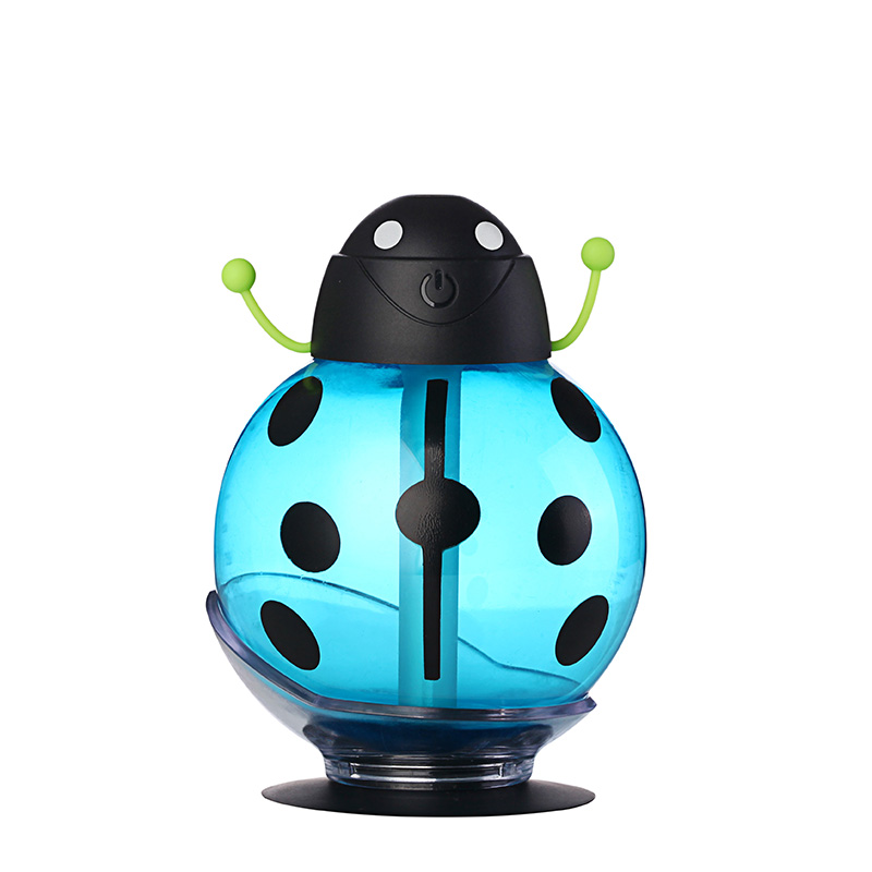 (Free To Europe)Small Ladybug Led Mini Air Humidifier DC 5V Room Air Diffuser USB Portable ABS Water Bottle Cap Aroma Mist Maker