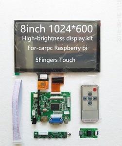 8 дюймов автомобильная навигация 193*117 Uiversal 1024*600 Высокое разрешение ZJ080NA-08A Реверсивный приоритет Mult поддержка Raspberry Pi Android