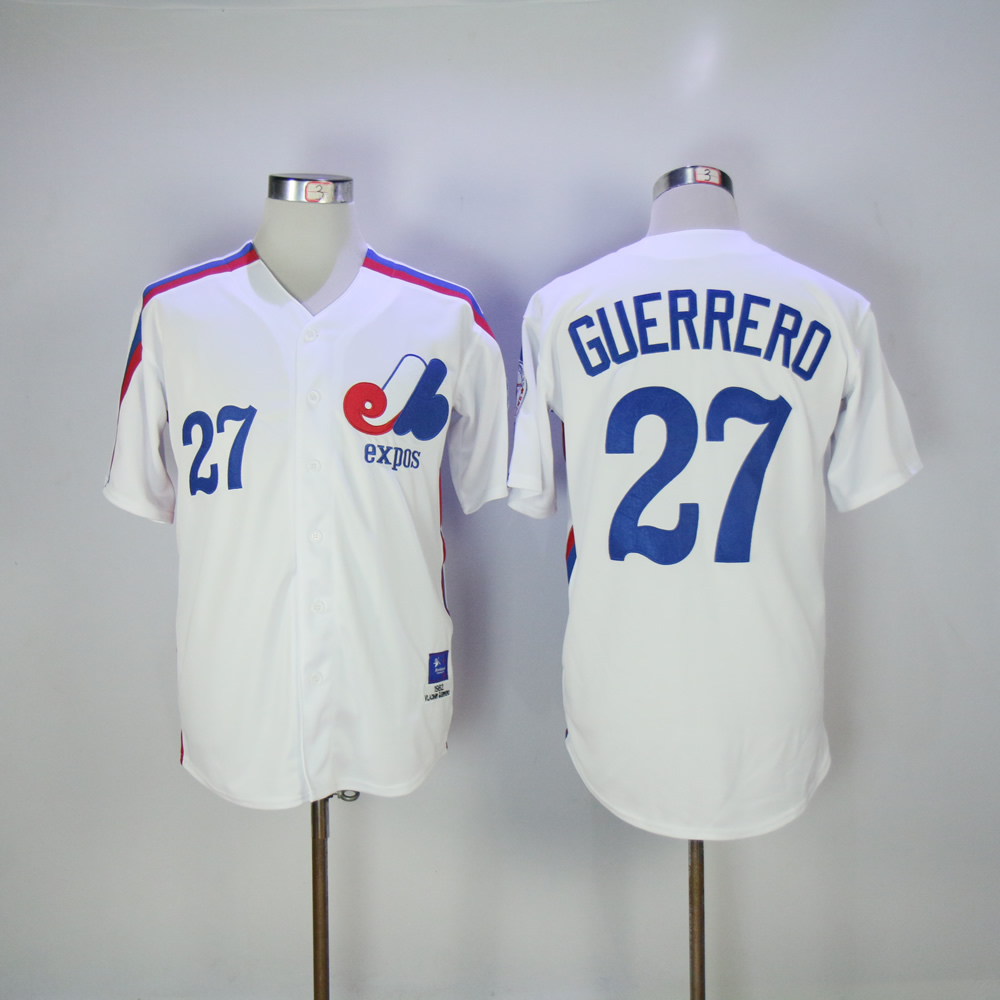 Vladimir Guerrero Jersey 27 Montreal Expos Baseball Jersey All stitched Retro Style More Color baseball jersey 52 petricka petricka jake petricka jersey