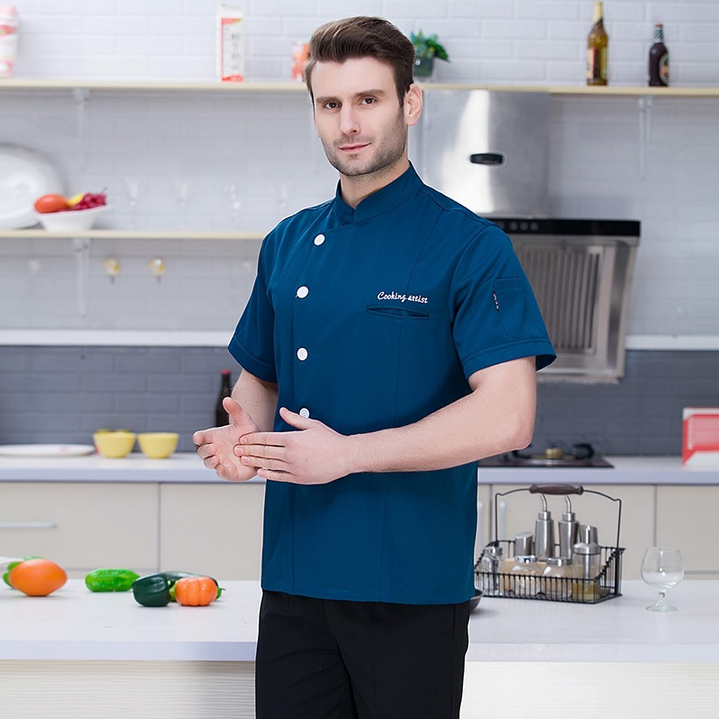Chefs Jacket Cooks Clothing Waiter Uniform Restaurant Food Service Breathable Single-breasted Kitchen Workwear Chef Uniforms