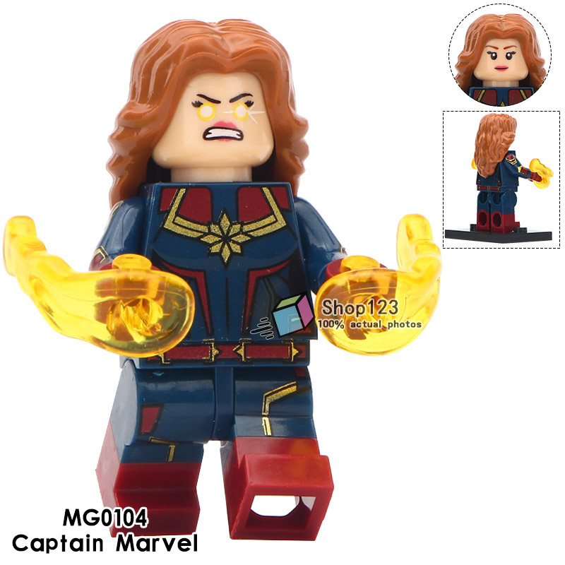 Blocks Single Sale Marvel Super Heroes Legoings Captain Marvel Antman Spiderman The Avengers 4 Building Blocks Gift Toys For Children Model Building