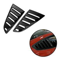 2pcs Car Styling Rear Side Window Louver Vent Grille Covers For Ford Mustang V6 Coupe High