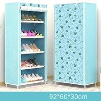 Non woven Fabric Shoe Storage Shoes Rack Hallway Cabinet Organizer Holder Removable Door Cabinet Shelf DIY Home Furniture